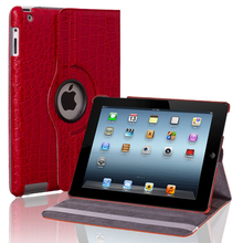 360 degress rotating PU leather for mini ipad case