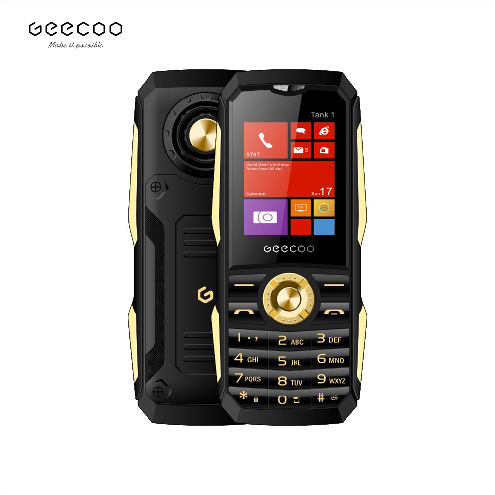 GEECOO Tank <strong>1</strong> <strong>1</strong>.8&quot; QQVGA Cell Phone F25 Box Mini Feature Phone