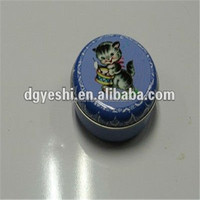 Food grade round colorful TIN fancy candy box for gift packing
