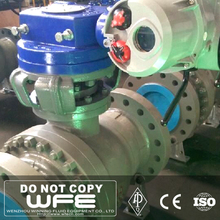 API 6D WCB Electric Operating Full Bore Gear box Flange Ball Valve