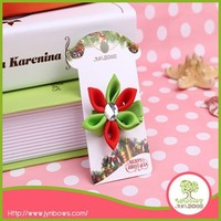 Christmas Ribbon Flower Hair Clip