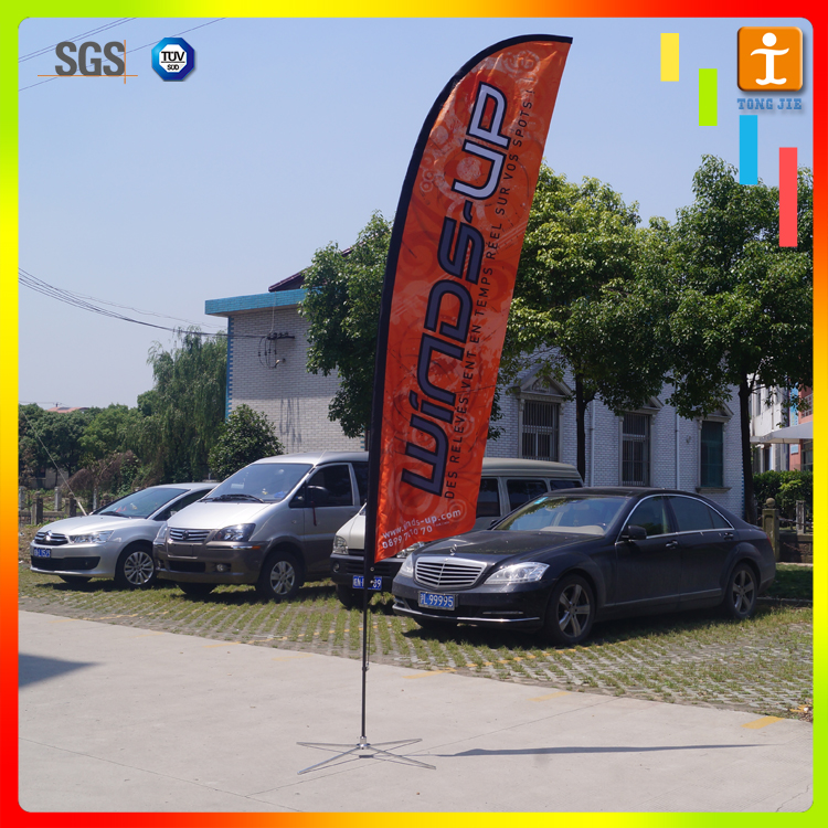 Indoor double sided polyester teardrop promotional flying banner