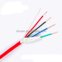 high quality red pvc shielded fire alarm cable