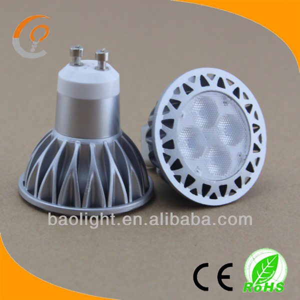 replace halogen lamp nxp dimmable gu10 led spotlight 5w 120 volts white ra80