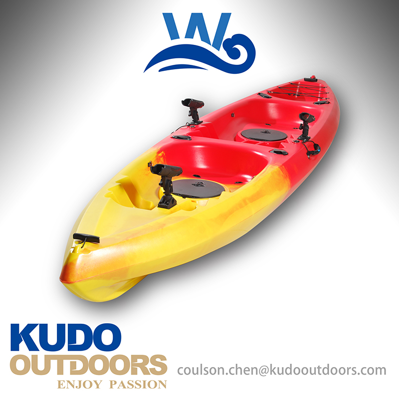 Plastic kayak for two person