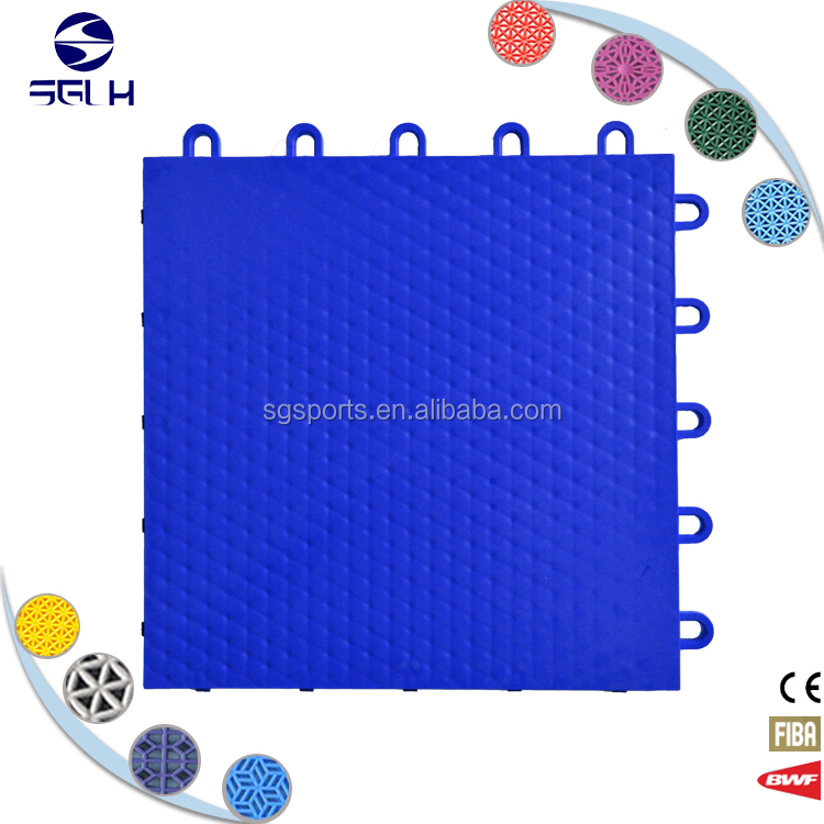 Multipurpose used plastic sports floor for gateball
