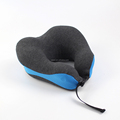 Wholesale compress folding memory foam airline adult u shape rest cushion