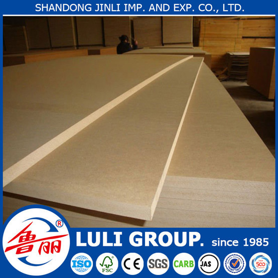 cheap raw/plain MDF with 2mm 5mm 6mm 8mm 10mm 12mm 15mm 16mm 18mm from luli since 1985 in china(mainland)