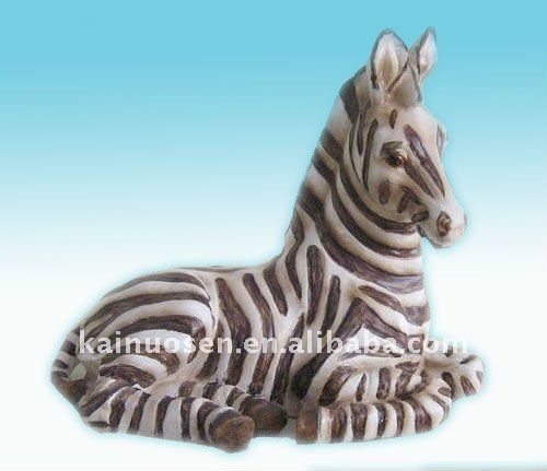 Zebra polyresin horse craft