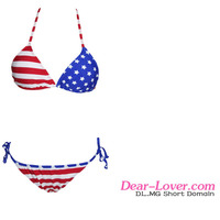 2016 Hot sexy girls xxx china photos American Flag Two Pieces sexy mature bikini