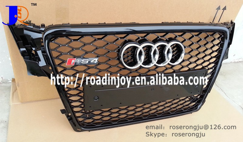 for AUDI A4 B8 auto body car grille ,RS4 honey comb front grille