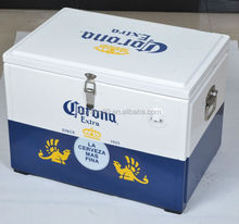 corona beer metal cooler