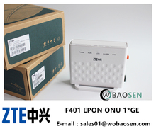 Original ZTE ZXA10 F401 EPON 1GE ONU ONT With Single Lan Port Apply to FTTH Modes,English interface