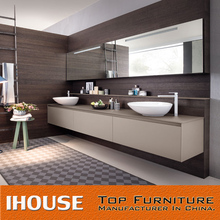 European Style Flat Pack MDF Double Sink Bathroom Vanity Made In China