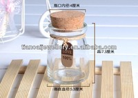 4*2cm Mixed Clear Lucky Wish Bottle Vial Pendant Charms, Jewelry Pendant, 100pcs/lot wholesales