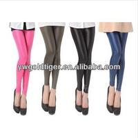 Bright Candy Color HUE Winter Punk Sexy Skinny Women Ultra-thick Plus Fleece Faux Leather Leggings