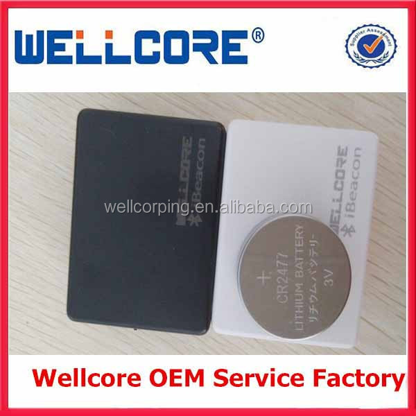 Wellcore Provide IBeacon module/ Solar cell ibeacon /IBeacon Waterproof case/ ibeacon with CR2477 battery module and OEM!
