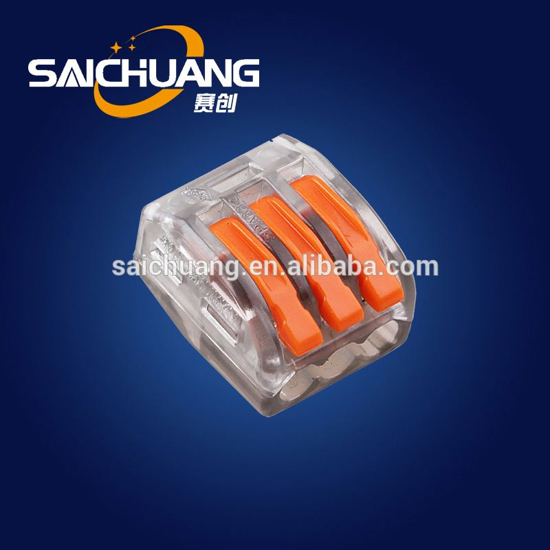 High quality 222-415 equivalent wago 222-412 terminal block compact splicing connector wire terminal block