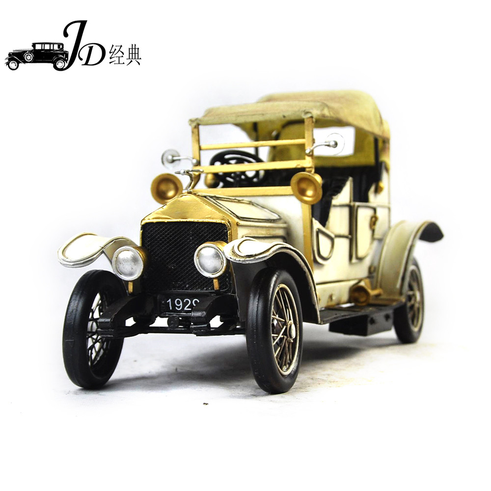Whole Iron Antique Wecker Cars Vintage Metal Model Craft JLC1206