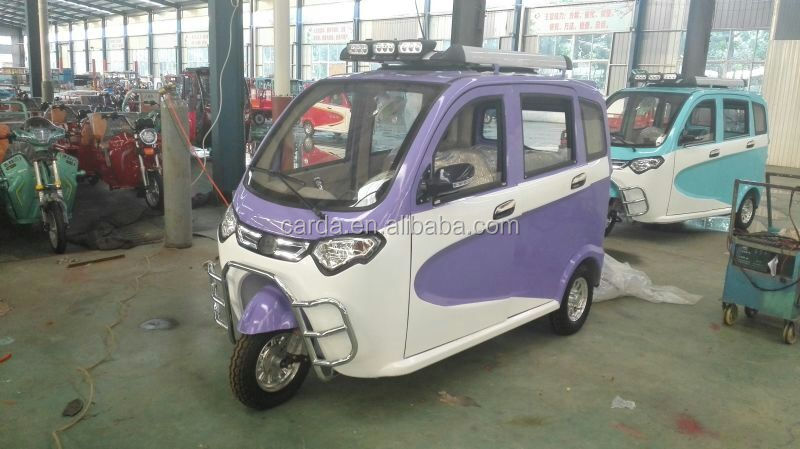 cheap 3 wheel car three wheel scooter adult closed passenger electric tricycle