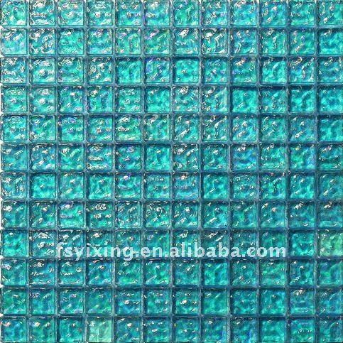 Free sample flooring tiles dark green glass mosaic tile