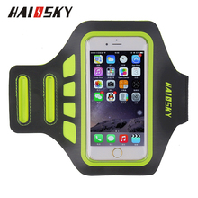 "HAISSKY Cheap Price Mobile Phone Armband Case With Double Buckles Lycra Armband For iPhone 6Plus or Size 5.5"" Smartphone"