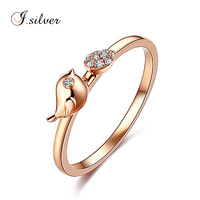 wholesale 925 sterling silver rings for birds with gold platted jewelry women R30151