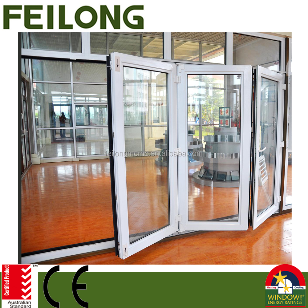 Double glazed aluminum sliding bi fold door comply to AS2047
