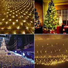 9.8ft x 6.6ft 204 LEDs Net Mesh Fairy String Decorative Lights Tree-wrap with 8 modes for Wedding Christmas Outdoor Garden Home