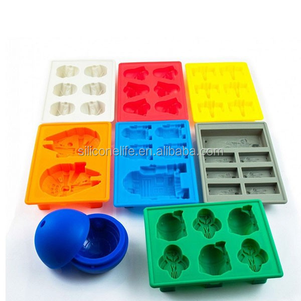 New Arrived!! New High Quality Star War Silicone Ice Tray