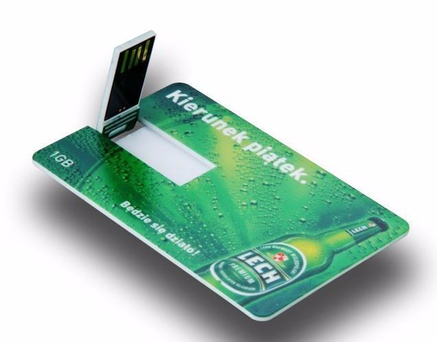 OEM Plastic Card USB Credit Card With Custom Logo 512mb-64gb