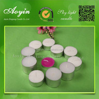 super white tea light candle paraffin wax candle
