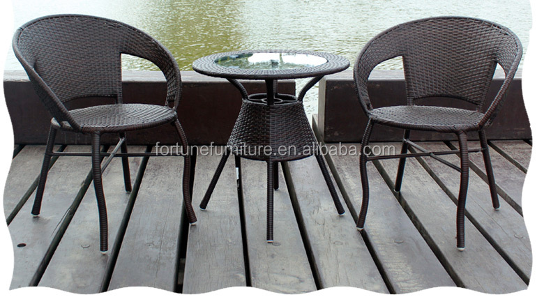 outdoor furniture garden rattan wicker chair and table set FC-R001