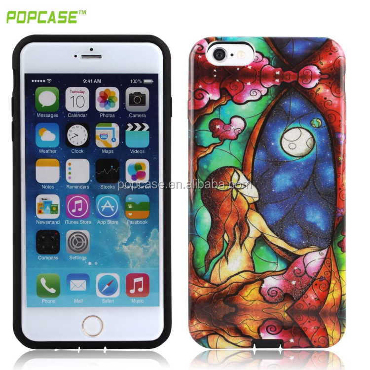 2016 trending products Gummy combo case Full protective 2 In 1 PC+TPU mobile phone case for Iphone 6S 6G case