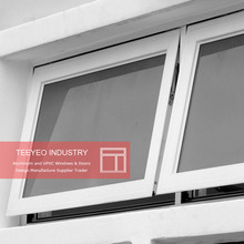 Teeyeo Good character aluminum top hung cheap awning window