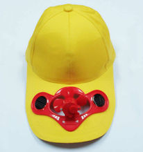 hot selling solar cap with fan cool for outdoor use in summer