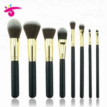 8 Pieces High End Airbrush Kabuki Brush Set Angle Brush Set Makeup