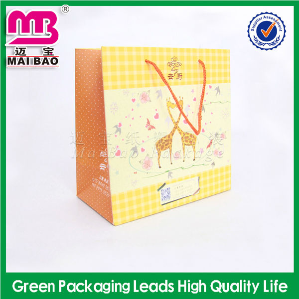 matte lamination paper fashion tote carrier bag