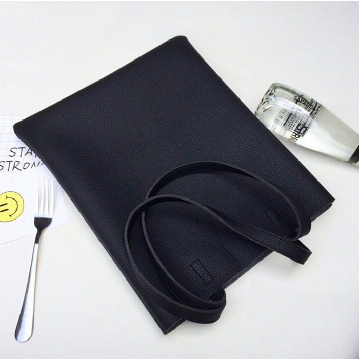 Wholesale Lady Black Leather Hand Bag or shoulder