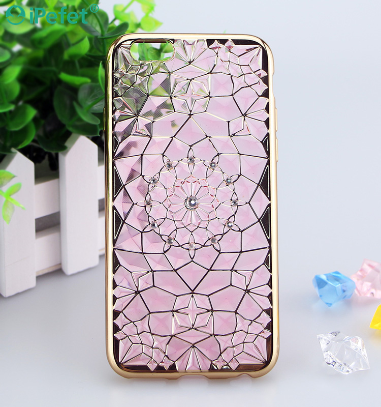 Wholesale Alibaba 3D diamond Mobile phone Electroplating case cover for iPhone 7 plus