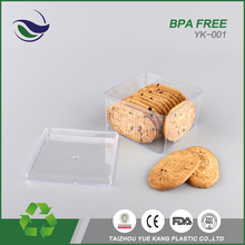 wholesale cheap designer bpa free pet food storage savers set candy containers packaging box square cookie jar plastic