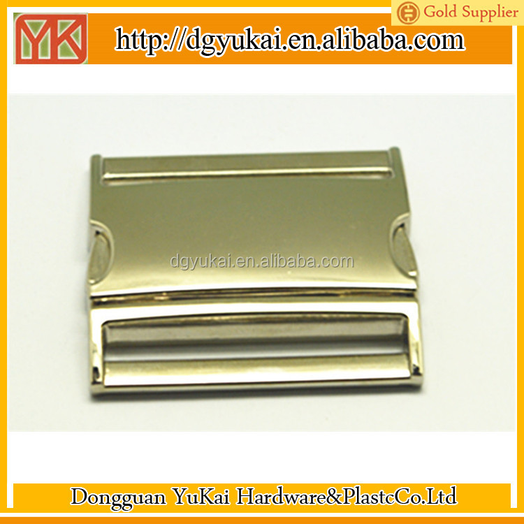Yukai high quality metal buckle for bags, metal side release buckle 2 inch, metal buckles for coats
