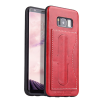 PU leather high quality custom cheap for samsung s8 mobile phone case