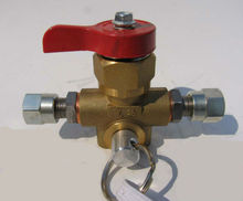QF-T3H Brass CNG Gas 12mm Filling Valve for CNG used in Car(20MPa car valve)
