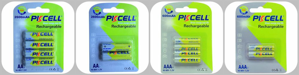 PKCELL bulk sale 1.2V 1200mAh nimh aaa rechargeable battery on Alibaba China