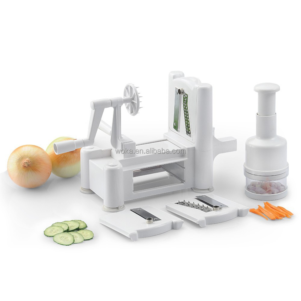 Tri-blade Spiral Vegetable Slicer 2 sets Onion Chopper and Vegetable Spiralizer