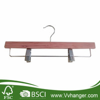 Special Color Wholesale Wooden Pants Hangers With Copper Hook