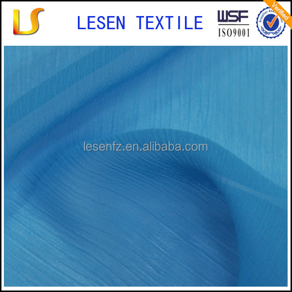 Lesen textile polyester ruffled fabric