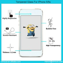 New tempered glass screen protector for apple iphone 5/5S wholesale
