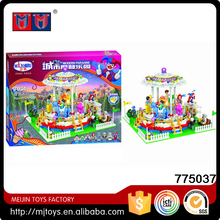Hot selling City Modern Paradise 705pcs Plastic Construction Toy Building Blocks with lights Play Set for kids
